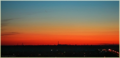 Красный закат солнца. Фото высокого разрешения