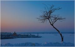 Закат над Стрелкой. Нижний Новгород. На Волге широкой, на Стрелке далекой