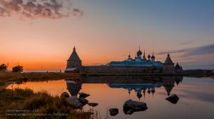 Вечер на Соловках. Соловецкий монастырь и Святое озеро