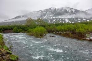 Горная река Паратунка. Камчатка