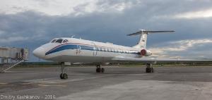 Самолет Ту-134 в аэропорту Нижнего Новгорода. Фото