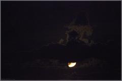 Ночное фото. Луна за облаком. Как снимать закат зеркалкой
