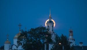 Фото Луны на восходе