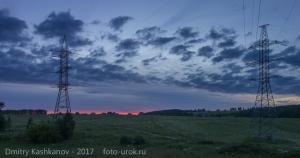 Последние краски заката. Фото