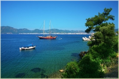Утренний пейзаж. Фотографии яхт. Море. Турция. Мармарис