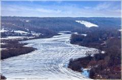 Река Клязьма. Весна. Все готово к ледоходу