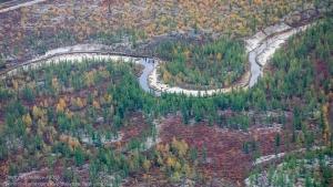 Фотографии тундры с самолета. Осень в тундре