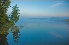 Утро над спящей водой. Минуты до восхода солнца