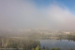 Солнечное туманное утро. Фото тумана