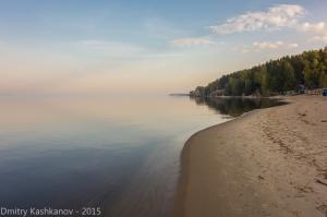 Утро на берегу Горьковского моря. Фото