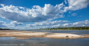 Фотографии реки Оки. Песчаный остров