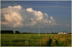 Вечернее фото. Лето в деревне. За околицей.  Красивые летние фото. 11 год