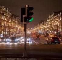 Вечерний Невский проспект. Вид с площади Восстания