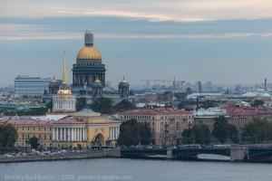 Исеекиевский собор, Дворцовый мост и Адмиралтейство. Фото