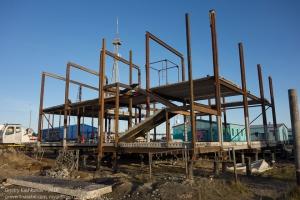 Тазовский. Строительство нового дома в микрорайоне Геолог