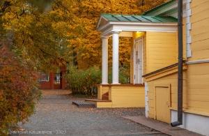 Крыльцо господского дома А.С.Пушкина в Болдино