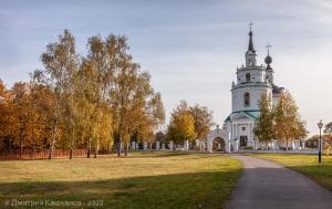 Успенская церковь. Большое Болдино. Осеннее фото