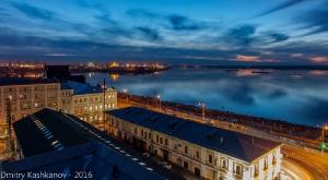 Вечернее фото. Вид на Стрелку. Нижний Новгород
