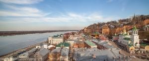 Нижний Новгород. Кремль и Волга. Фото с крыши
