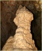 Гигантский сталагмит. Фотографии сталагмитов. Пещера Эмине Баир Хосар в Крыму. Фото пещер